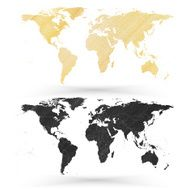 World map wooden design texture vector illustration