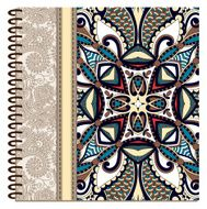 design of spiral ornamental notebook cover N3