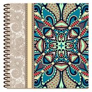 design of spiral ornamental notebook cover N4