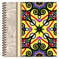 design of spiral ornamental notebook cover N5