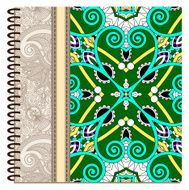 design of spiral ornamental notebook cover N6