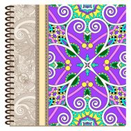 design of spiral ornamental notebook cover N7