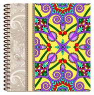 design of spiral ornamental notebook cover N8