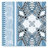 design of spiral ornamental notebook cover N20