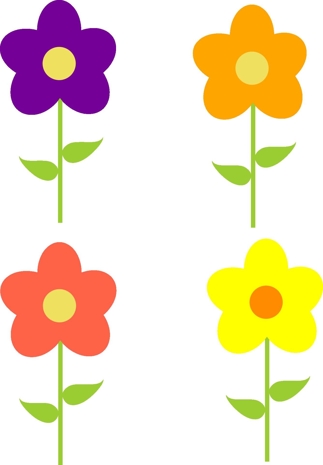 Colorful Flower Clip Art