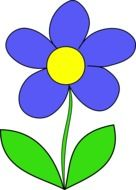 graphic image of blue daisy