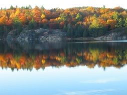 autumn lake reflection
