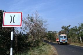 road sign in india