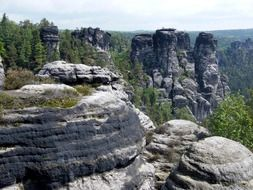 sandstone Mountains in the Saxon Switzerland