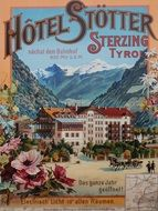 banner of the Stotter Hotel in South Tyrol, Austria