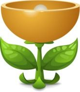 Clipart of plant and lamp