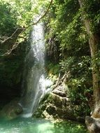 waterfall among nature on the island of kythira