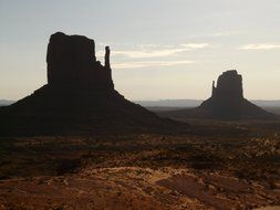 rocky towers in Monument Valley, USA