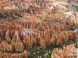 top view of sandstone in Bryce Canyon