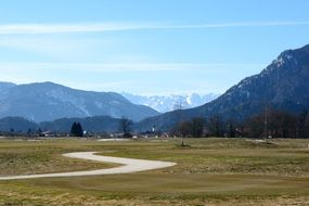 landscape of mountains in chiemgau