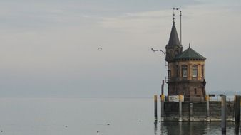 tower on lake constance