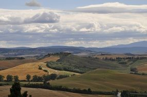 panorama of picturesque Tuscany