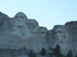 sculptures of presidents, usa, South Dakota, mount rushmore