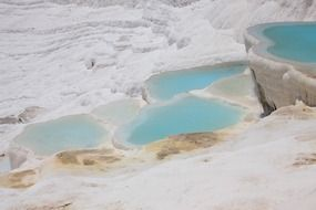 ancient pamukkale geological landscape