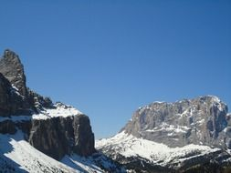 snowy dolomites in South Tyrol
