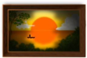 Landscape in evening clipart