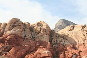red rocks in canyon in nevada