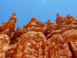 bottom view of the sandstone in Bryce Canyon