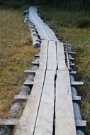 wooden-board track in finnland