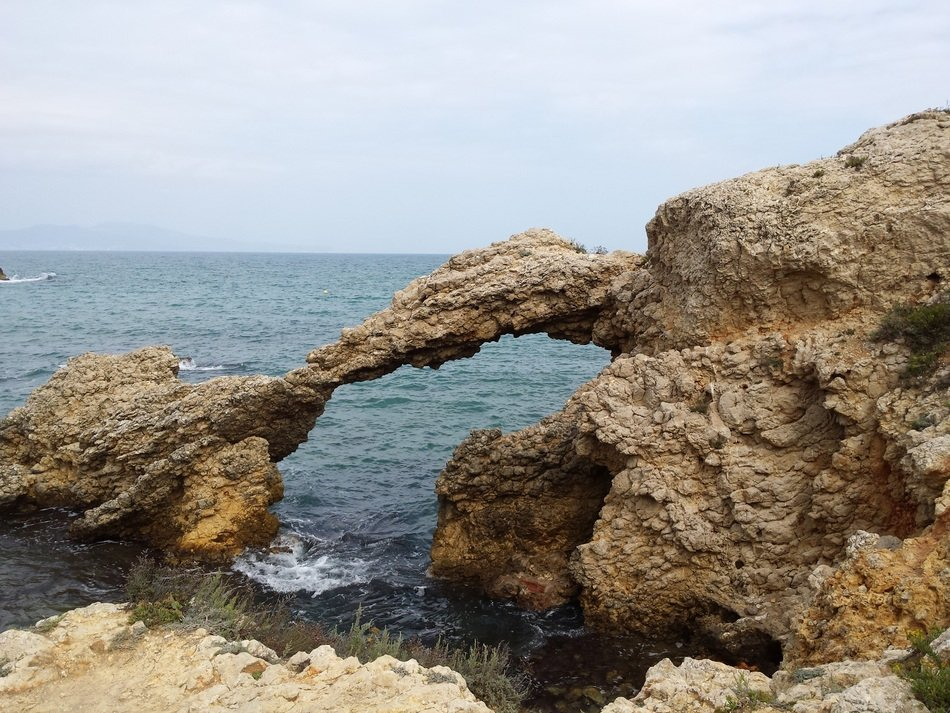 rock formations on the seashore in Spain