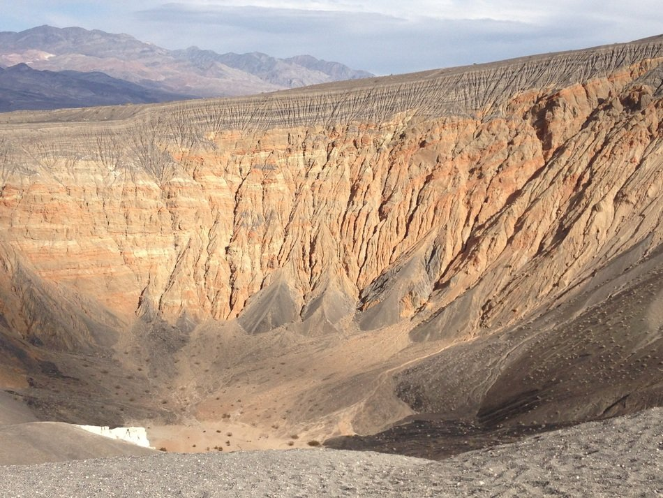 Ubehebe Crater in desert landscape, usa, california, death valley