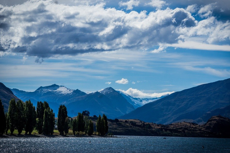 Lake Wanaka in the Otago region of New Zealand