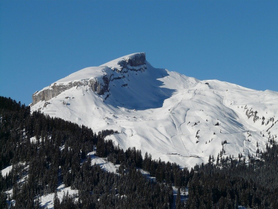 snowy peak in the Alps