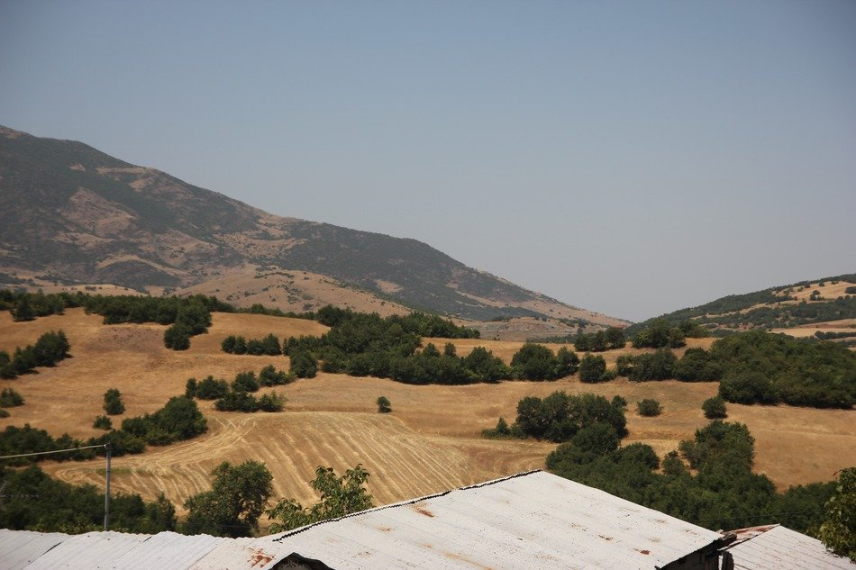 sandy greece hillside landscape