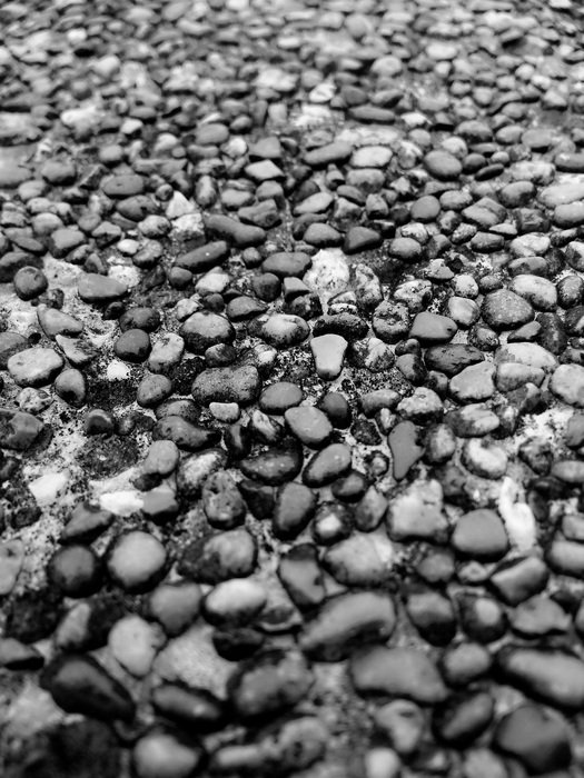 grey pebble stone close-up