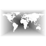 Gray World Map Vector N5