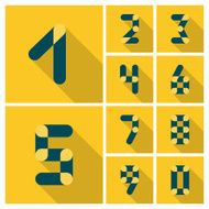 Numbers Icons set Vector flat design N2
