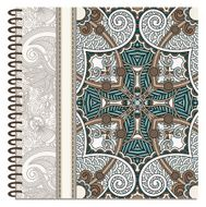 design of spiral ornamental notebook cover N21