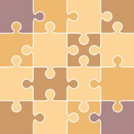 Jigsaw puzzle pieces - VECTOR N2
