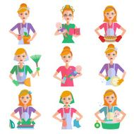 Housewife Icon Set N2