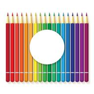 flat vector multicolored colorful paint pencils N3