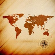 World map wooden design texture vector illustration N2