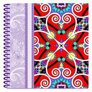 design of spiral ornamental notebook cover N22