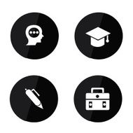 Education icons vector N11