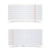 Sheets of school notebooks