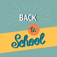 Back to School Calligraphic Designs Retro Style Elements Flat