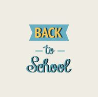 Back to School Calligraphic Designs Retro Style Elements Flat N2
