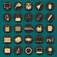 Set education icons N11