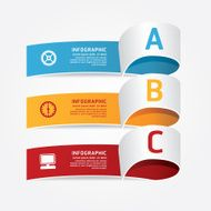 infographic template Modern Design