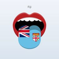 Fiji language Abstract human tongue