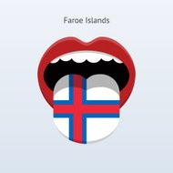 Faroe Islands language Abstract human tongue